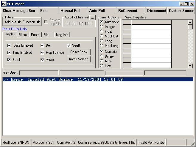 MODBUS-MTU-Mode