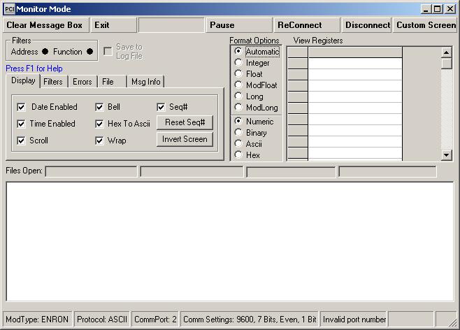MODBUS-Monitor-Mode