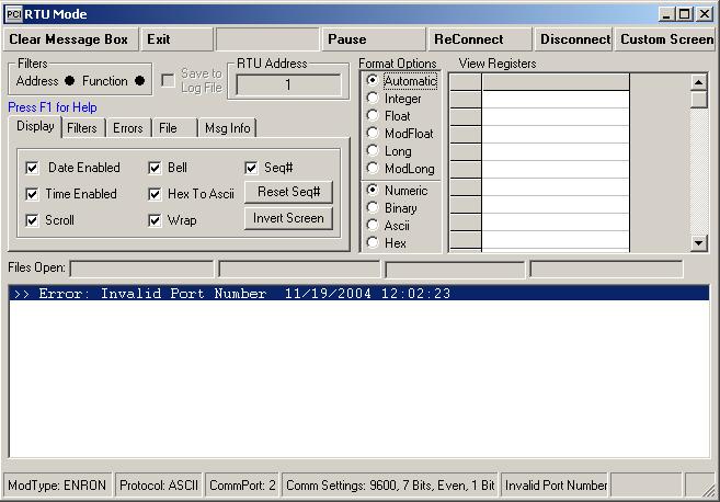 MODBUS-RTU-Mode
